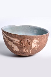 Brown bowl clay with inside glazed