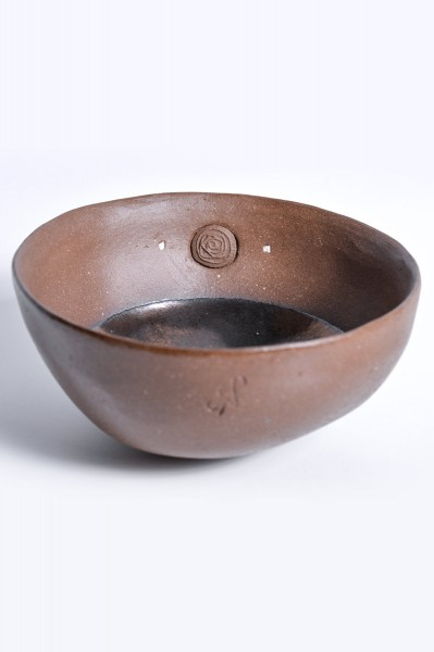 Brown bowl with inside glazed