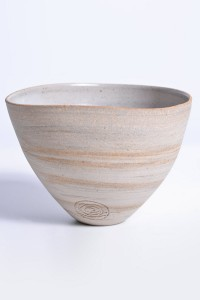 Bowl blend beige clay with inside glazed